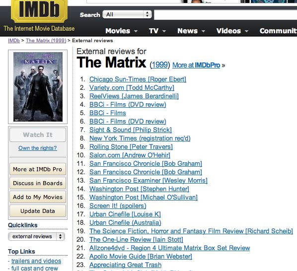 IMDb External Reviews, 02