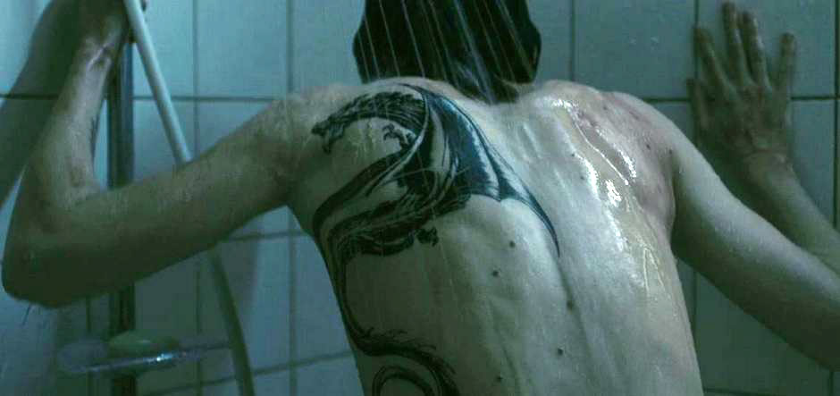Rooney Mara, shower back, The Girl with the Dragon Tattoo