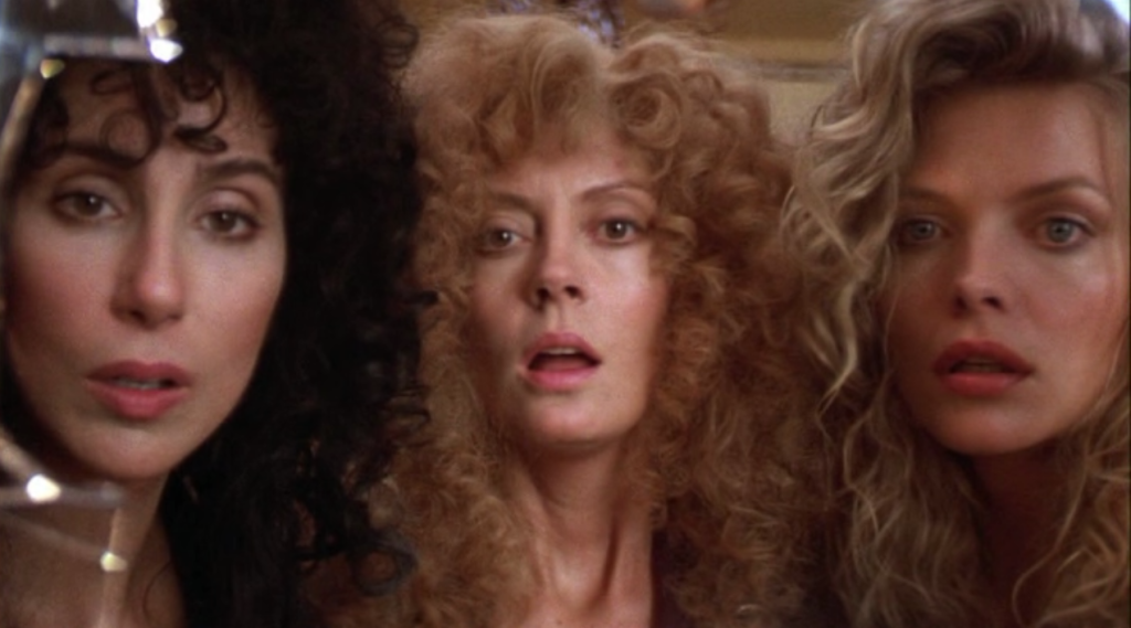 Cher Susan Sarandon Michelle Pfeiffer The Witches of Eastwick