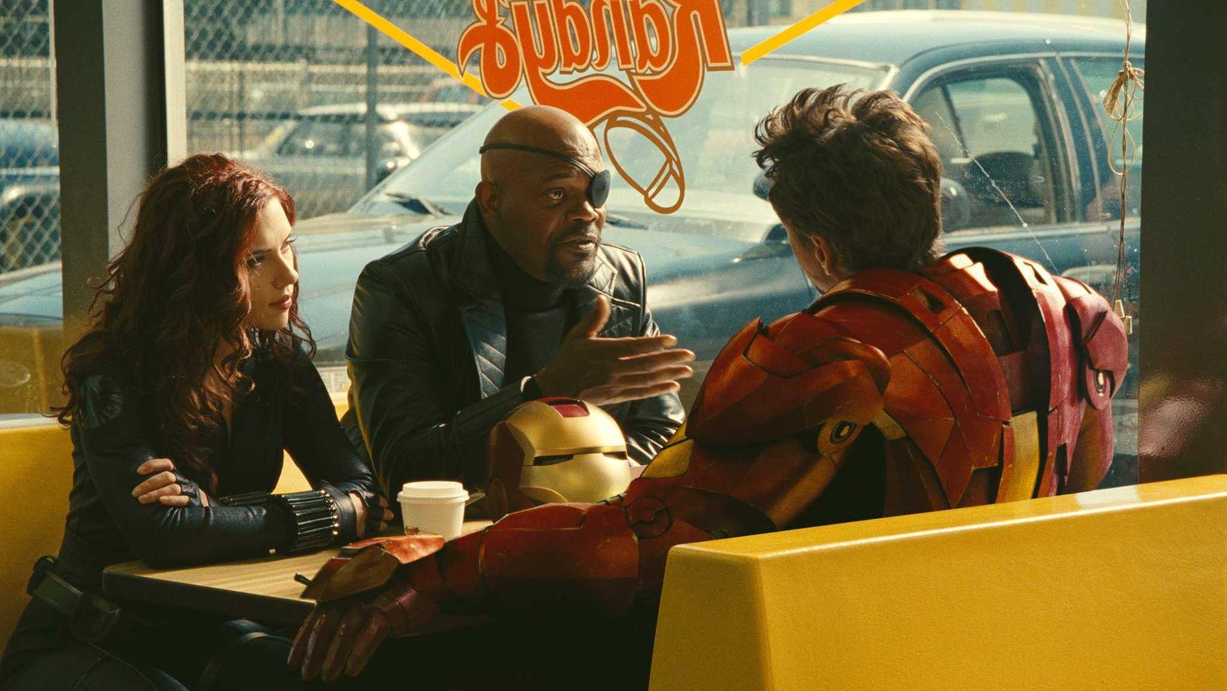 Scarlett Johannson Samuel Jackson Robert Downey Jr. Iron Man 2