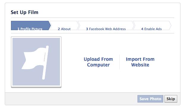 Facebook Like Setup Page
